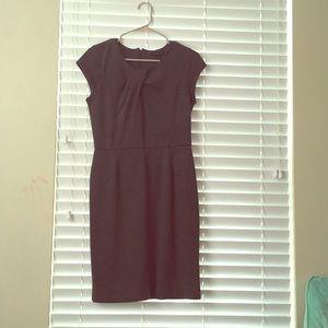 Grey knee length short sleeve dress